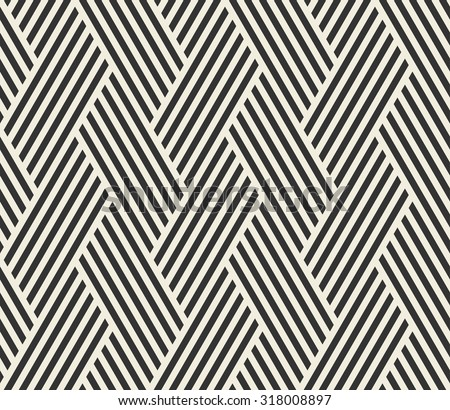 Vector seamless pattern. Abstract stripped geometric background.