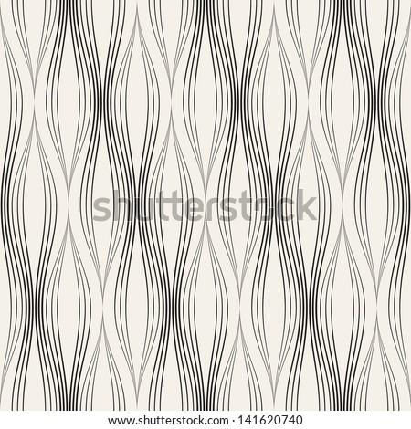 Vector seamless pattern. Abstract stylish background. Wavy regular pattern - stock vector