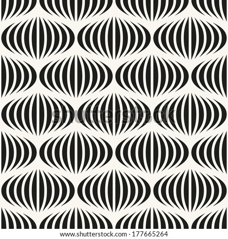 Vector seamless pattern. Abstract stylish background with wavy stripes