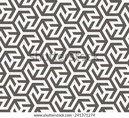 Vector seamless pattern. Arabic geometric texture. Islamic Art - stock vector