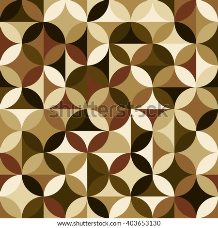 Vector seamless pattern. Brown modern geometrical abstract background. - stock vector