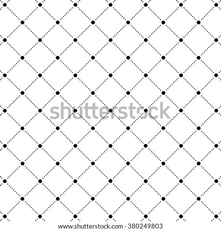 Vector Seamless Pattern / Dotted Rhombus Texture Background