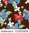 Vector seamless pattern floral - stock vector