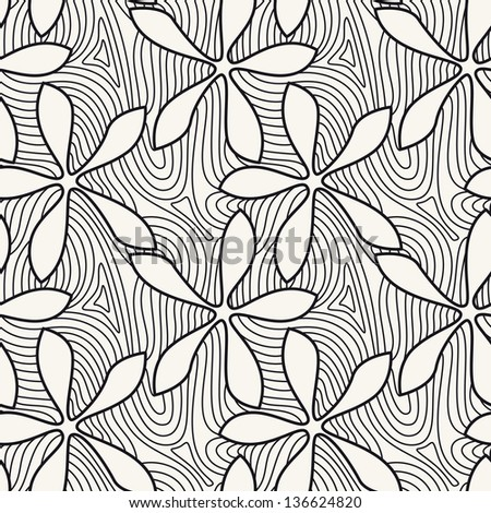 Vector seamless pattern. Floral background - stock vector