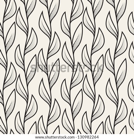 Vector seamless pattern. Floral stylish background - stock vector