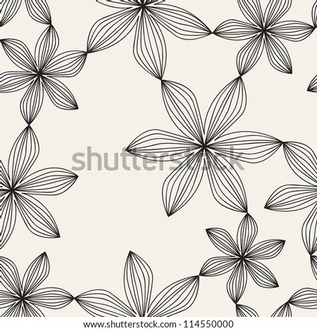 vector seamless pattern. floral stylish background. delicate texture with flowers - stock vector