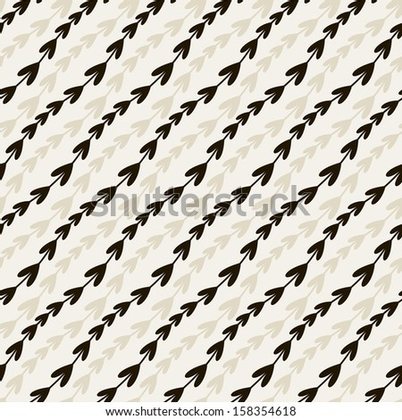 Vector seamless pattern. Floral stylish background. Graphic repeating texture with diagonal branches - stock vector