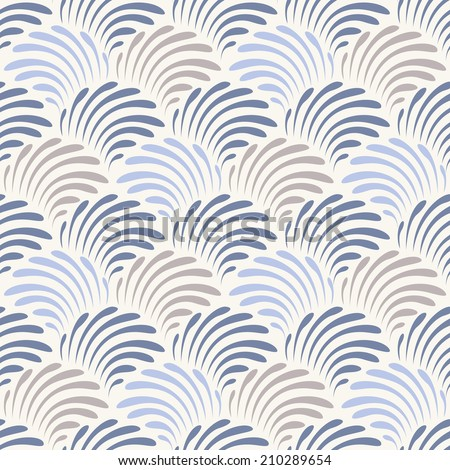 Vector seamless pattern. Floral stylish background. Repeating background - stock vector