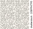 vector seamless pattern. floral texture. endless background - stock vector