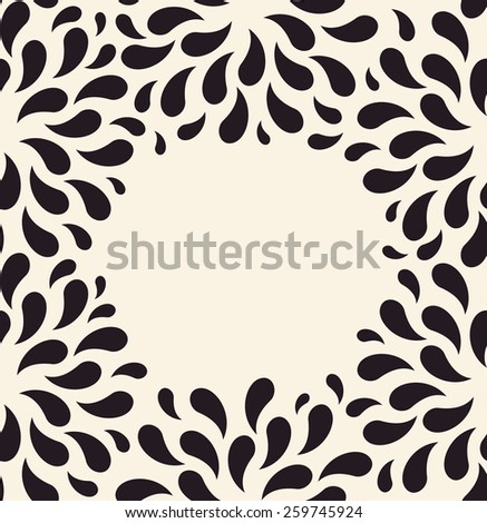 Vector seamless pattern. Floral vintage backgrounds drops blank foliage plants - stock vector
