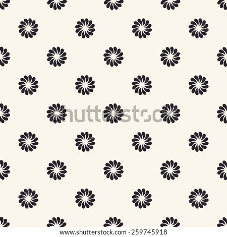 Vector seamless pattern. Floral vintage backgrounds isolated - stock vector