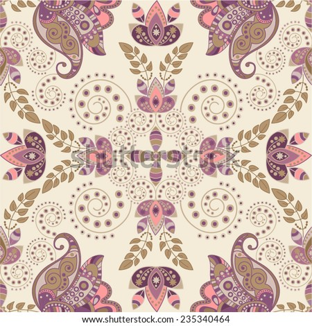 Vector seamless pattern. Flowers background