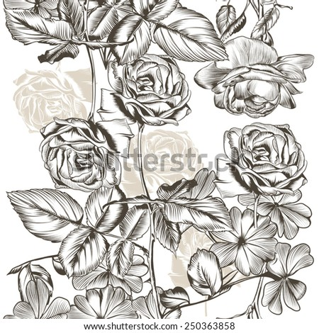 Vector seamless pattern for wallpaper design with flowers