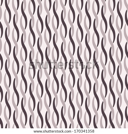 Vector seamless pattern. Geometric background. Stylish texture with twisted ropes - stock vector
