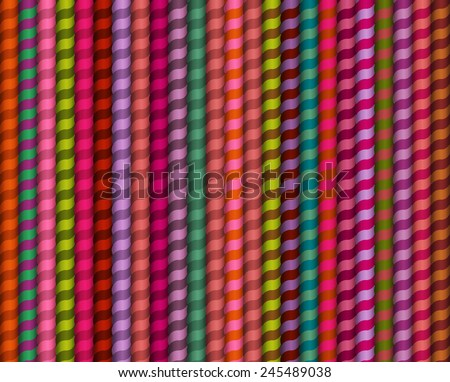 Vector seamless pattern. Geometric stylish background. Different color texture with twisted ropes - stock vector