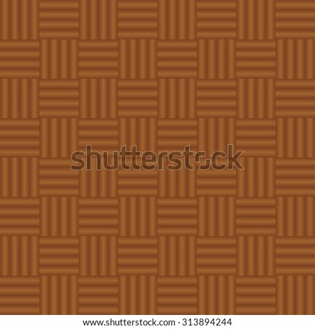 Vector seamless pattern. geometric tiles with brown network - stock vector