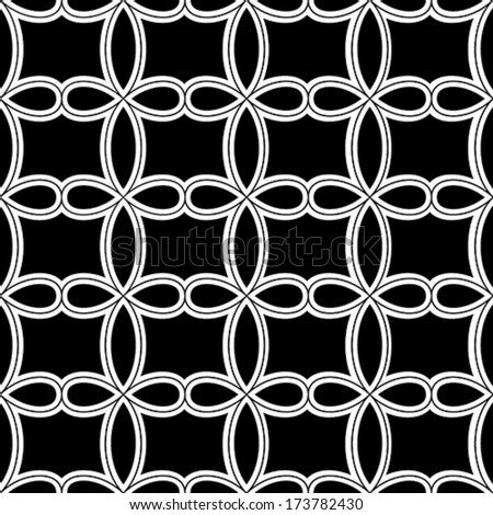 Vector Seamless Pattern - Geometric Wallpaper - stock vector