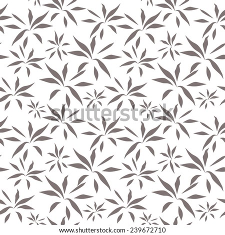 Vector seamless pattern. Hand drawn floral texture. Seamless pattern for your design wallpapers, pattern fills, web page backgrounds, surface textures. - stock vector