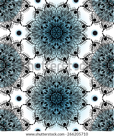 Vector seamless pattern in Eastern style. Ornamental vintage tracery.  Endless vintage texture. Boho style. - stock vector