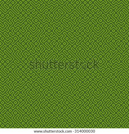 Vector seamless pattern in retro style. Green texture. - stock vector