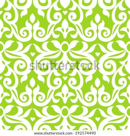 Vector seamless pattern in Victorian style. Element for design.Ornamental backdrop. Lace background in bright modern colors. Ornate floral decor for wallpaper.Endless texture. Monochrome pattern fill. - stock vector