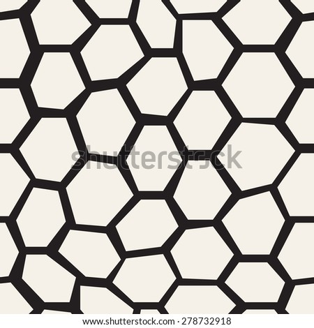 Vector seamless pattern. Irregular abstract grid background. Reticulated vector texture. Modern linear polygonal trellis with triangles in nodes. Trendy hipster graphic design. - stock vector