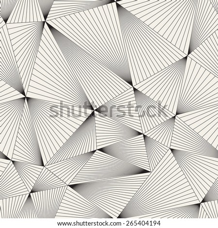 Vector seamless pattern. Irregular abstract linear grid. Graphical hand drawn background. Reticulated monochrome texture. Modern graphic design - stock vector