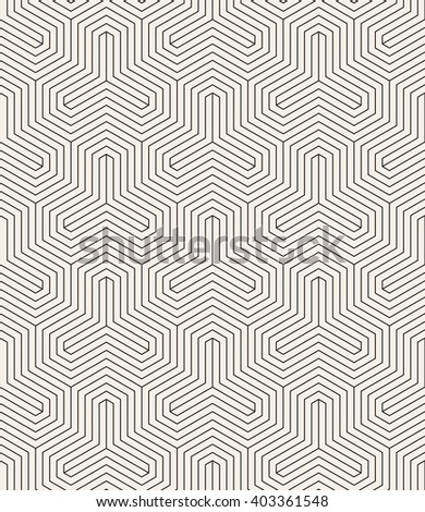 Vector seamless pattern. Linear graphic design. Decorative geometric grid. Regular background with trigonal elements. Minimalist simple trellis.