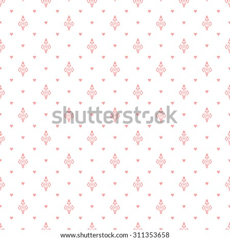Vector seamless pattern. Luxury gentle texture. Pattern can be used as a background, wallpaper, wrapper or an element of decoration - stock vector