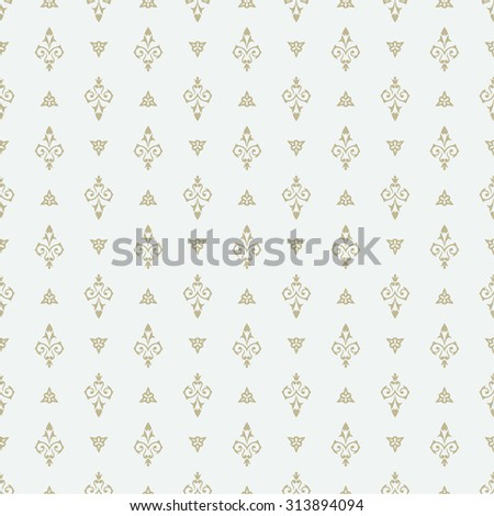 Vector seamless pattern. Luxury stylish gentle texture. Pattern can be used as a background, wallpaper, wrapper, page fill,  an element of decoration, ornate style - stock vector