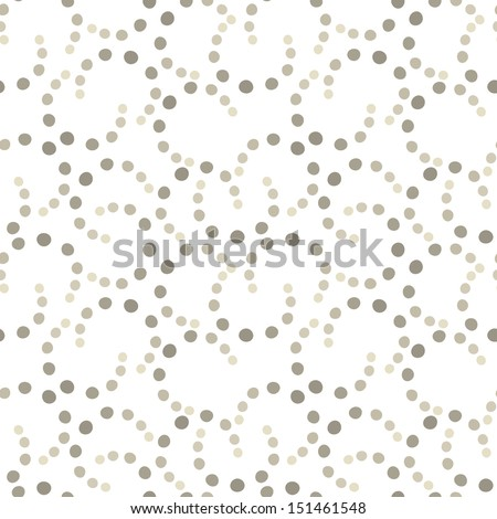 Vector seamless pattern. Modern dotted texture. Repeating abstract background with circles