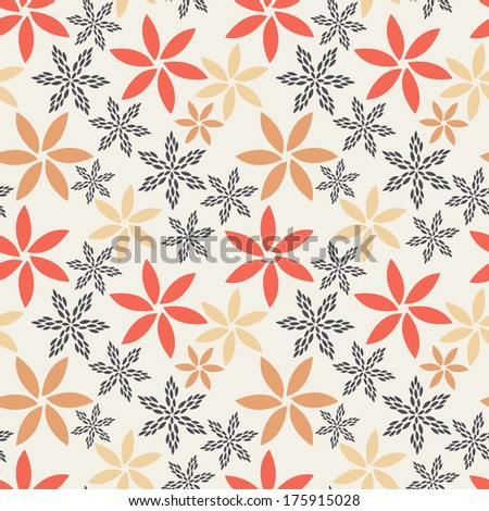 Vector seamless pattern. Modern floral texture. Stylish abstract background