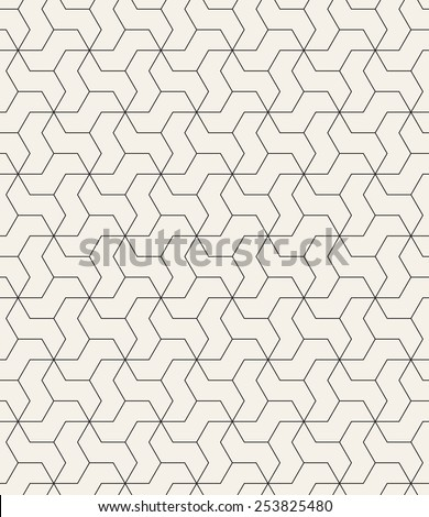 Vector seamless pattern. Modern geometric texture. Repeating abstract background. Polygonal linear simple grid - stock vector