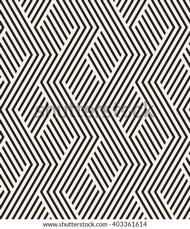 Vector seamless pattern. Modern geometric texture. Repeating abstract background. Polygonal linear grid with striped elements.