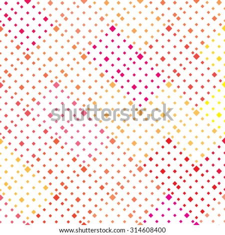 Vector seamless pattern. Modern stylish red yellow texture. Geometric rhombus ornament