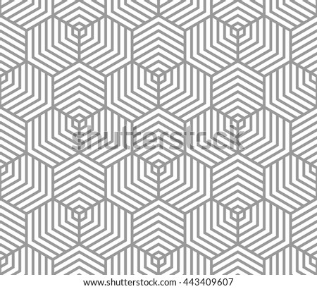 Vector seamless pattern. Modern stylish texture. Abstract hexagonal background.