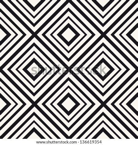 Vector seamless pattern. Modern stylish texture. Geometric ornament with linear rhombuses - stock vector
