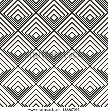 Vector seamless pattern. Modern stylish texture. Geometric ornament with linear rhombuses