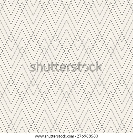 Vector seamless pattern. Modern stylish texture. Geometric ornament with linear rhombuses. Linear hipster background. - stock vector