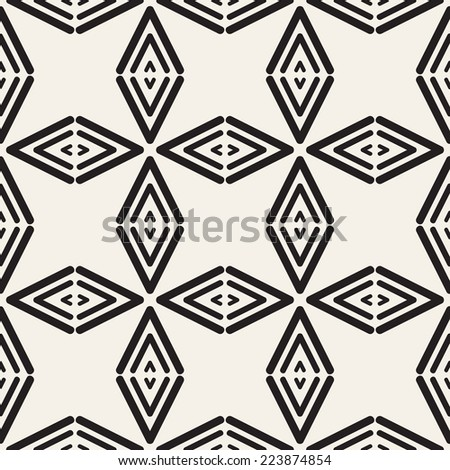 Vector seamless pattern. Modern stylish texture. Geometric ornament with rhombuses