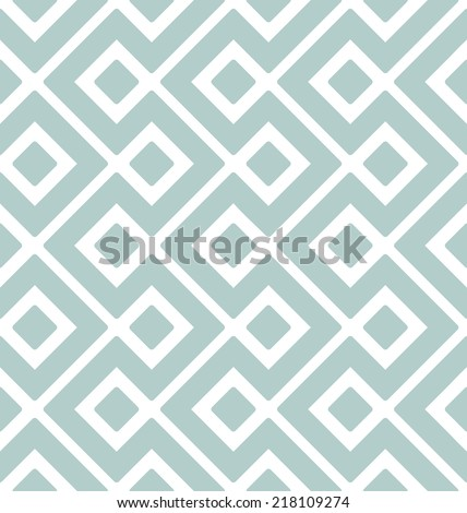 Vector seamless pattern. Modern stylish texture. Geometric ornament with smooth rhombuses - stock vector