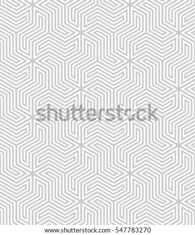 Vector seamless pattern. Modern stylish texture. Geometric pattern with hexagonal tiles.
