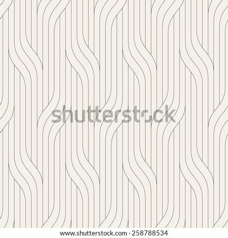 Vector seamless pattern. Modern stylish texture. Geometric striped ornament. Monochrome linear braids. Contemporary graphic design. - stock vector