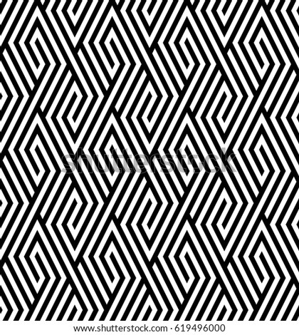 Vector seamless pattern. Modern stylish texture. Monochrome geometric pattern with rhombuses