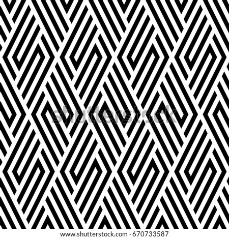 Vector seamless pattern. Modern stylish texture. Monochrome geometric pattern with rhombuses.