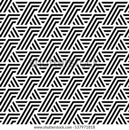 Vector seamless pattern. Modern stylish texture. Monochrome geometrical pattern. Repeating a pattern of intersecting bands.