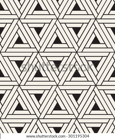 Vector seamless pattern. Modern stylish texture. Repeating geometric background. Linear herringbone with small filled triangles. Monochrome graphic design. - stock vector
