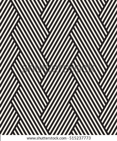 Vector seamless pattern. Modern stylish texture. Repeating geometric background. Striped hexagonal grid. Linear graphic design.
