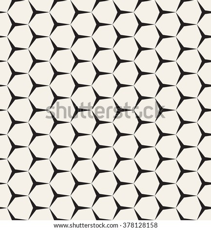 Vector seamless pattern. Modern stylish texture. Repeating geometric background with fine hexagonal grid. Stars in nodes - stock vector