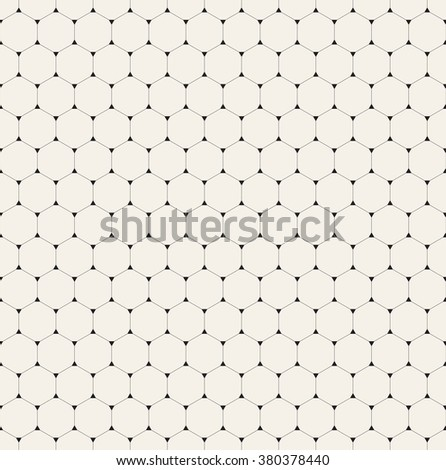 Vector seamless pattern. Modern stylish texture. Repeating geometric background with linear hexagons. Filled triangles in nodes